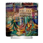 View On Venice Shower Curtain