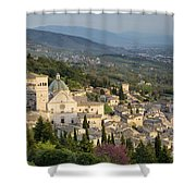 View Over Assisi Shower Curtain