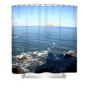 View Over Bass Rock Shower Curtain