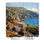 View Over Dubrovnik Coastline Shower Curtain
