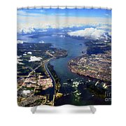 View Over Lasalle Montreal Shower Curtain
