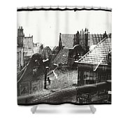 View Over Rooftops In Amsterdam  George Hendrik Breitner  C  1890    . 1910 Shower Curtain