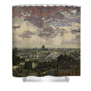 View Over Rooftops Of Paris Shower Curtain