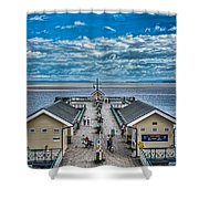 View Over The Pier Shower Curtain