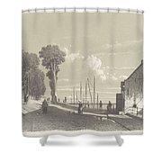 View The Veerweg Culemborg, Jan Weissenbruch, 1847 - 1865 Shower Curtain