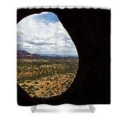 View Through A Portal, Sedona, Arizona Shower Curtain