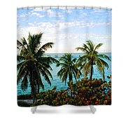 View To The 7 Mile Bridge Shower Curtain