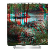 View To The Cove - Use Red-cyan 3d Glasses Shower Curtain