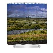 View Towards Lake Myvatn Iceland Shower Curtain