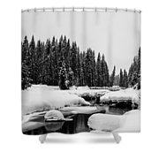View Upriver Shower Curtain