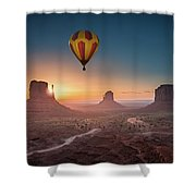 Viewing Sunrise At Monument Valley Shower Curtain