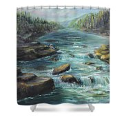 Viewing The Rapids Shower Curtain