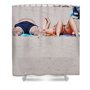 Views At The Beach Shower Curtain