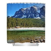 Views From Lake Louise Alberta  Shower Curtain