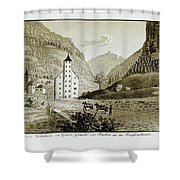 Views Of Switzerland And The Border Of Italy Shower Curtain