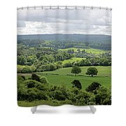 View Of The Surrey Hills From Newlands Corner Shower Curtain