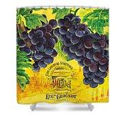 Vigne De Raisins Shower Curtain