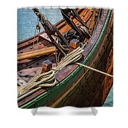 Viking Ship Rigging Shower Curtain