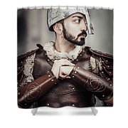 Viking Warrior Shower Curtain