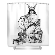 Viking Warrior Shower Curtain by Melissa A Benson