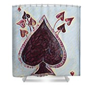 Vikings Ace Of Spades Shower Curtain