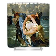 Vikings Load Longship With Spoils Of War Shower Curtain