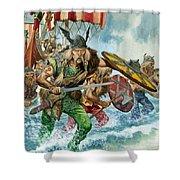 Vikings Shower Curtain by Pete Jackson
