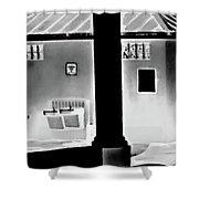 Vilano Beach Pavilion Restroom Shower Curtain