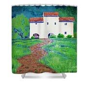 Villa In Tuscany Shower Curtain