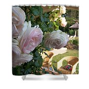 Villa Roses Shower Curtain