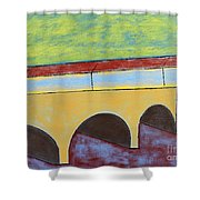 Village And Bridge Shower Curtain