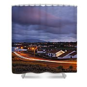 Village At Twilight Shower Curtain