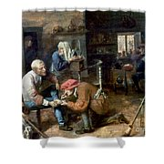 Village Barber-surgeon Shower Curtain