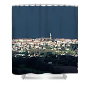 Village Before The Storm Shower Curtain
