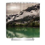 Village By The Lake Shower Curtain