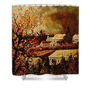 Village Curfoz Shower Curtain