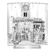 Village Gate In Old Le Thor France Shower Curtain