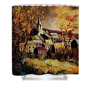 Village In Fall Shower Curtain