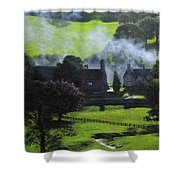 Village In North Wales Shower Curtain