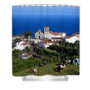 Village In The Azores Shower Curtain