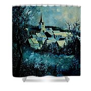Village In Winter Shower Curtain