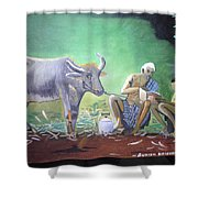 Village Life Shower Curtain