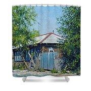 Village Line. Summer Shower Curtain