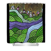 Village On The Hill Shower Curtain