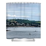 Village On The Sea Shower Curtain