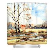 Village Scene I Shower Curtain