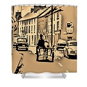 Village Scene Ireland Shower Curtain
