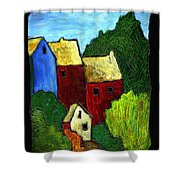 Village Scene Shower Curtain