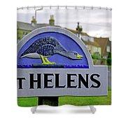 Village Sign - St Helens Shower Curtain