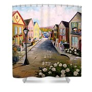 Village Street Shower Curtain
